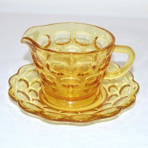 Vintage Gold Glass Cup and Saucer